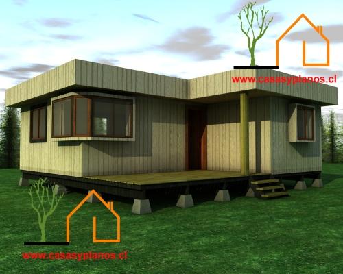 Casa cubo prefabricada 50m2